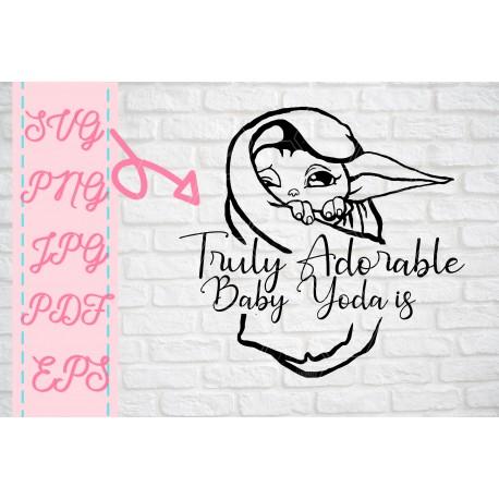 Baby Yoda truly adorable Baby Yoda SVG + PNG + EPS + jpg + pdf